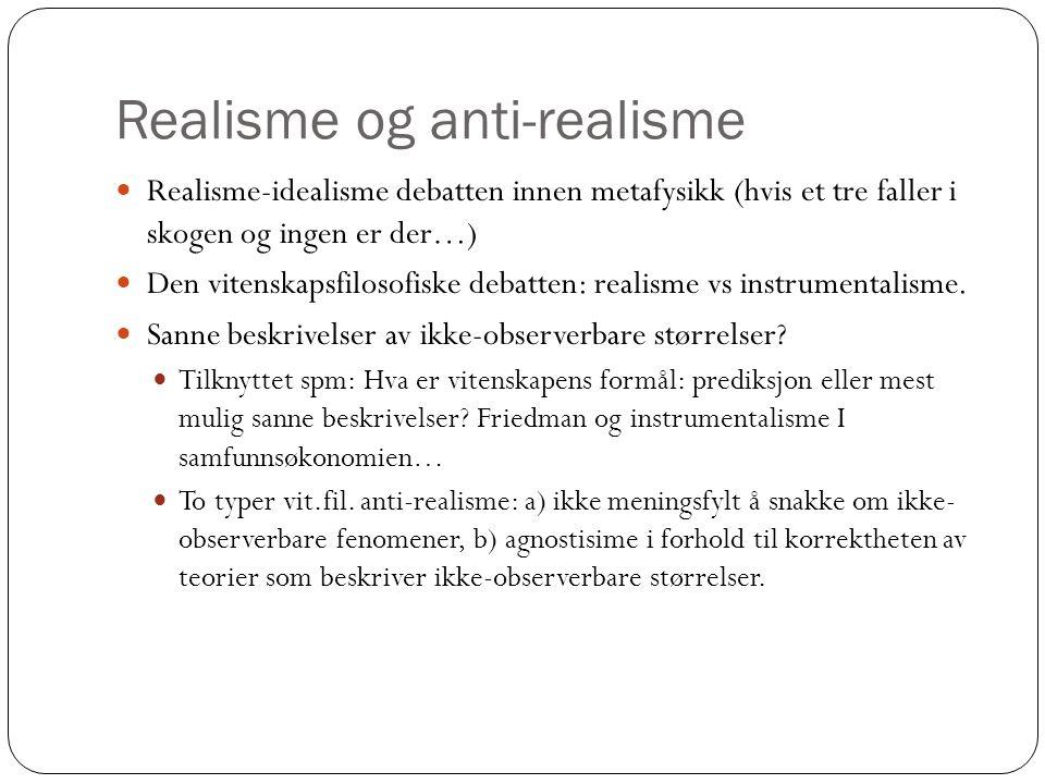 Realisme og anti-realisme