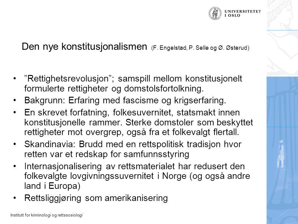 Den nye konstitusjonalismen (F. Engelstad, P. Selle og Ø. Østerud)