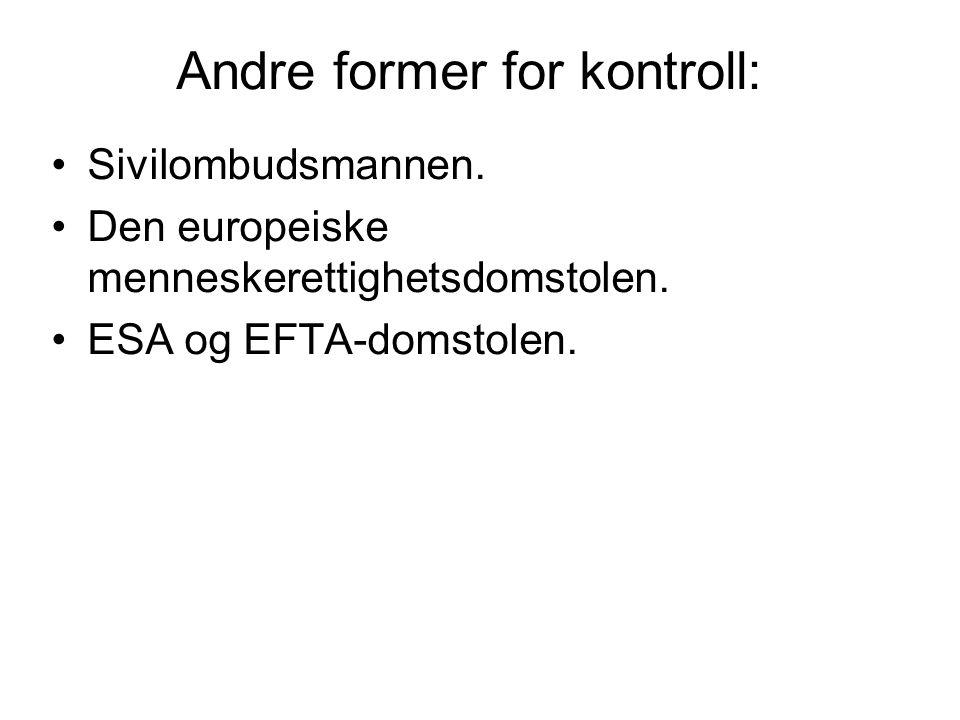 Andre former for kontroll: