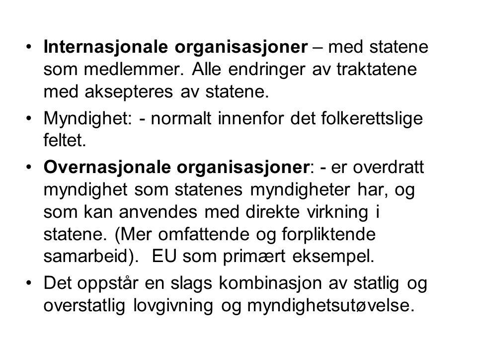 Internasjonale organisasjoner – med statene som medlemmer