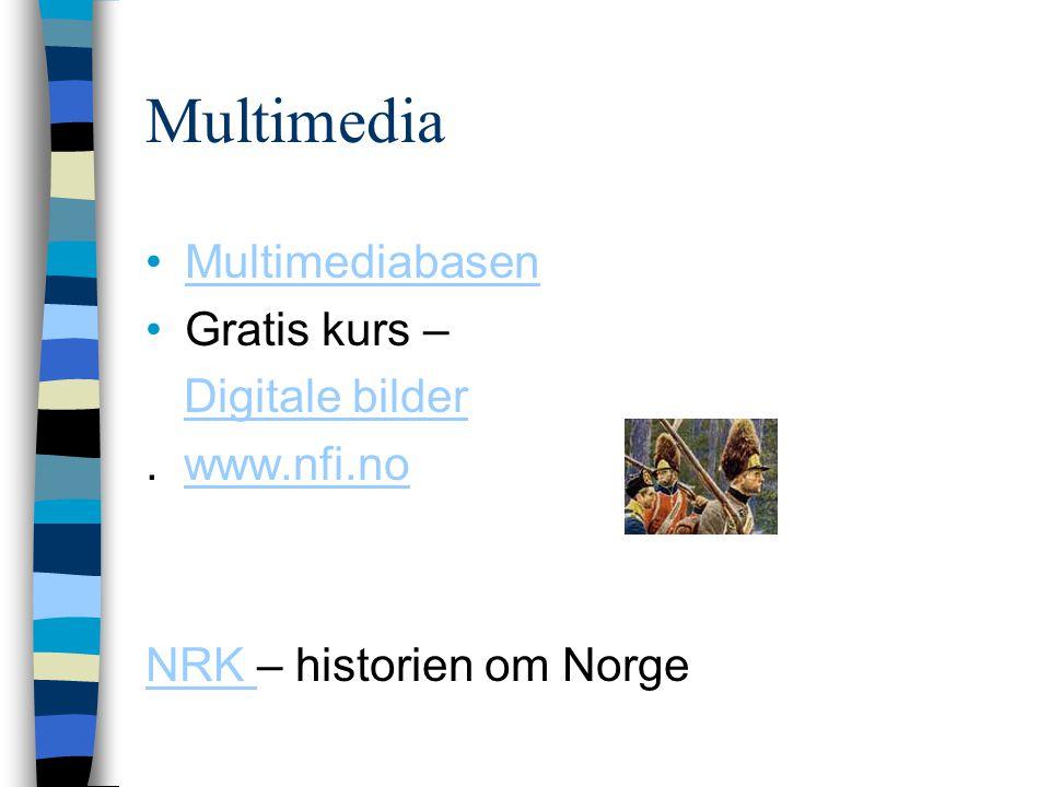 Multimedia Multimediabasen Gratis kurs – Digitale bilder . www.nfi.no