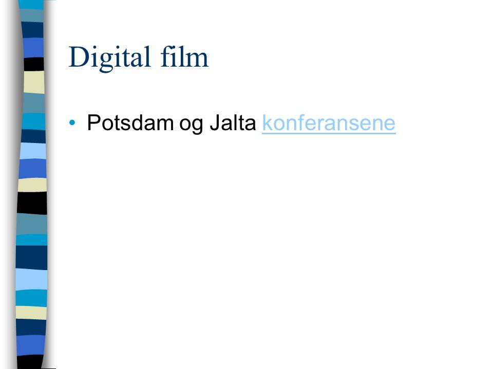 Digital film Potsdam og Jalta konferansene