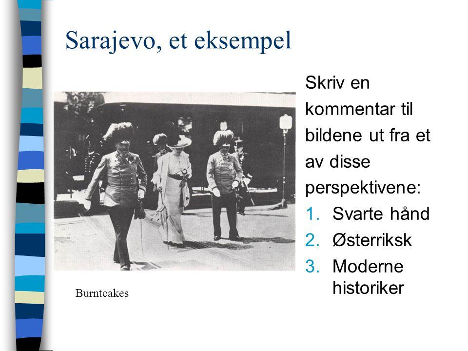 Sarajevo, et eksempel Skriv en kommentar til bildene ut fra et
