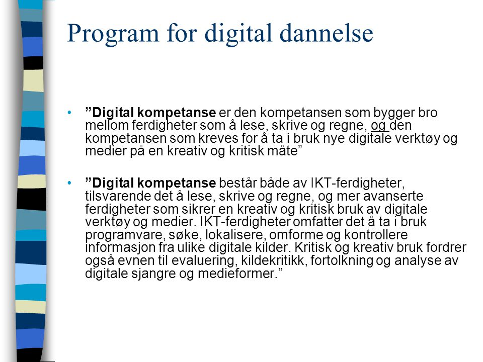 Program for digital dannelse