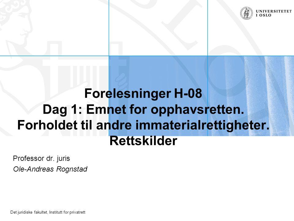 Professor dr. juris Ole-Andreas Rognstad