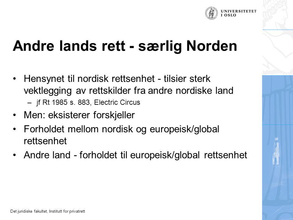 Andre lands rett - særlig Norden