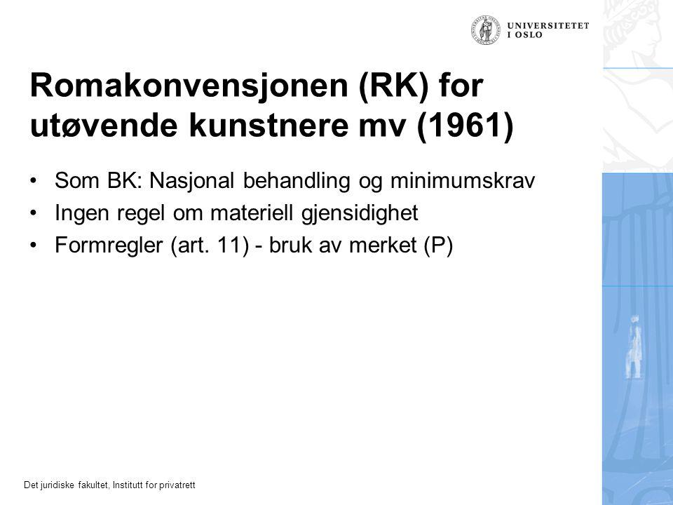 Romakonvensjonen (RK) for utøvende kunstnere mv (1961)