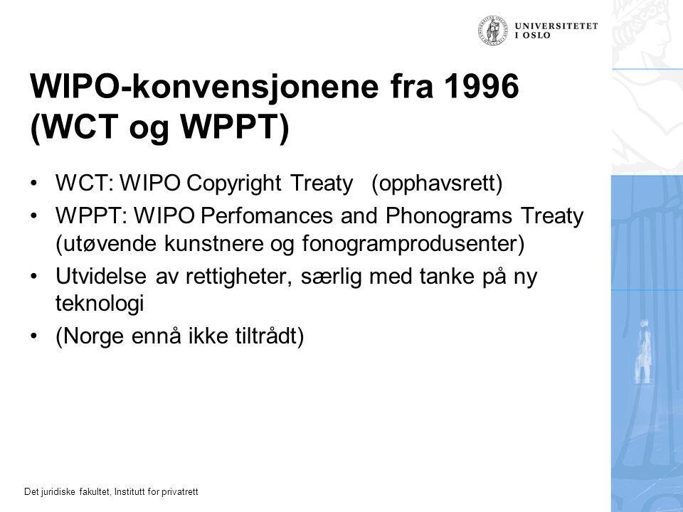 WIPO-konvensjonene fra 1996 (WCT og WPPT)