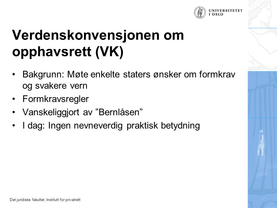 Verdenskonvensjonen om opphavsrett (VK)