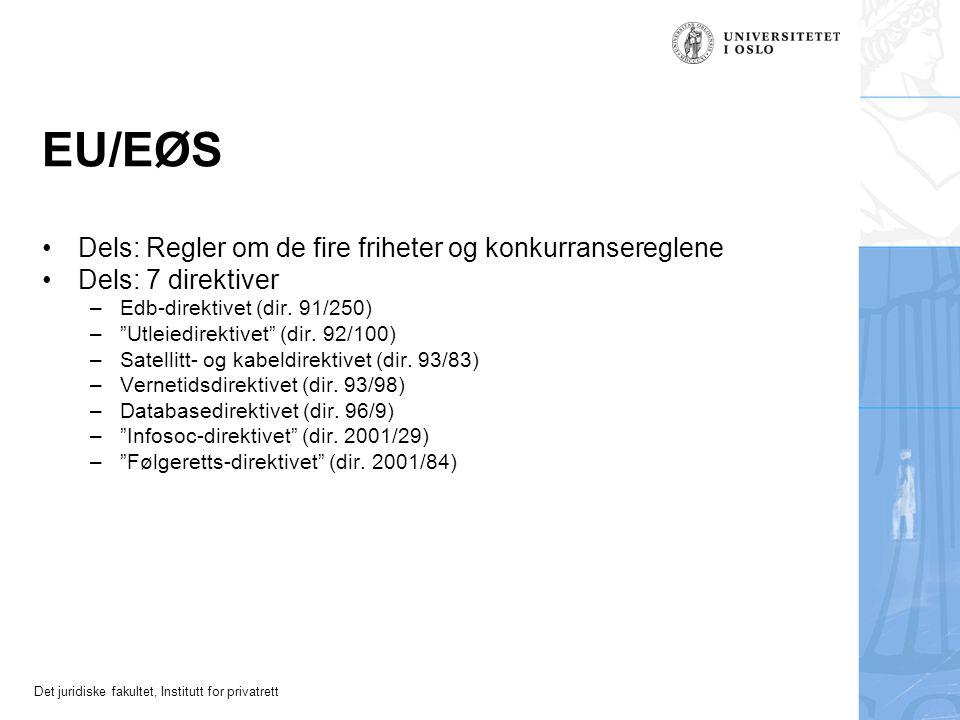 EU/EØS Dels: Regler om de fire friheter og konkurransereglene