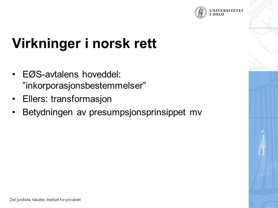 Virkninger i norsk rett