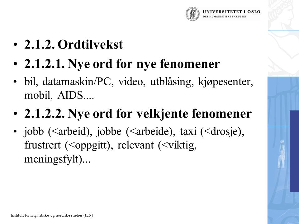 2.1.2.1. Nye ord for nye fenomener