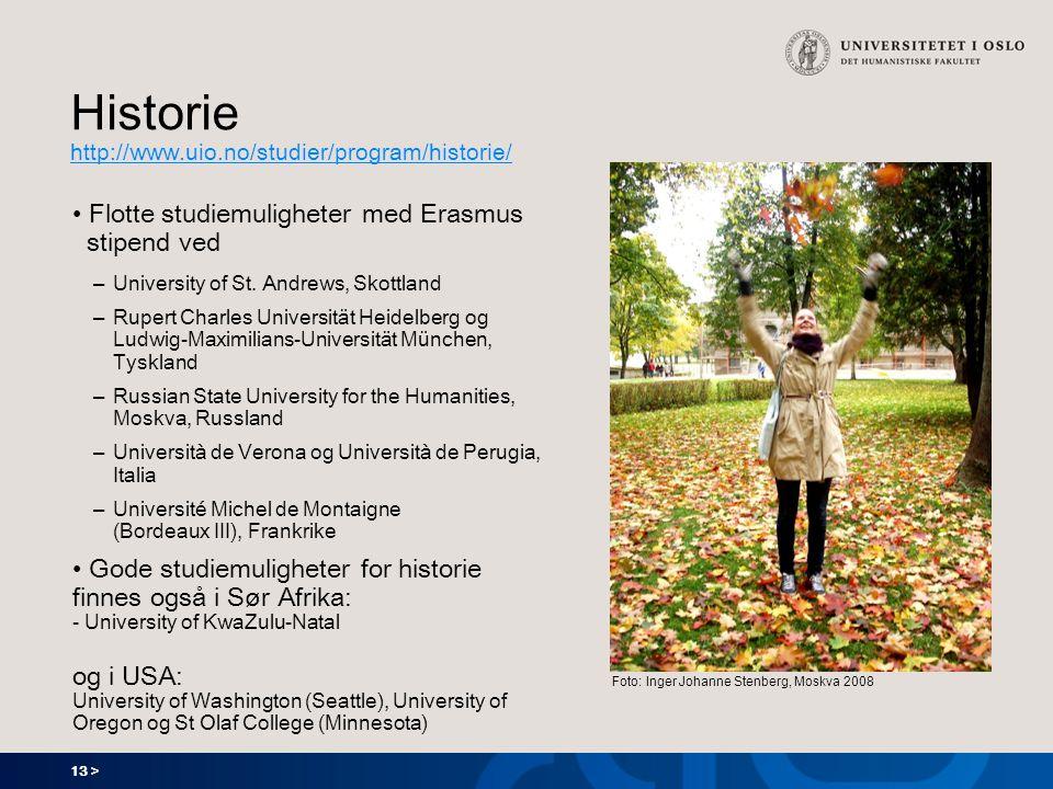 Historie http://www.uio.no/studier/program/historie/