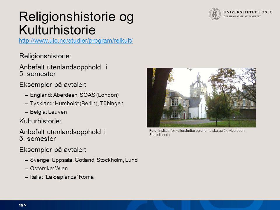 Religionshistorie og Kulturhistorie http://www. uio