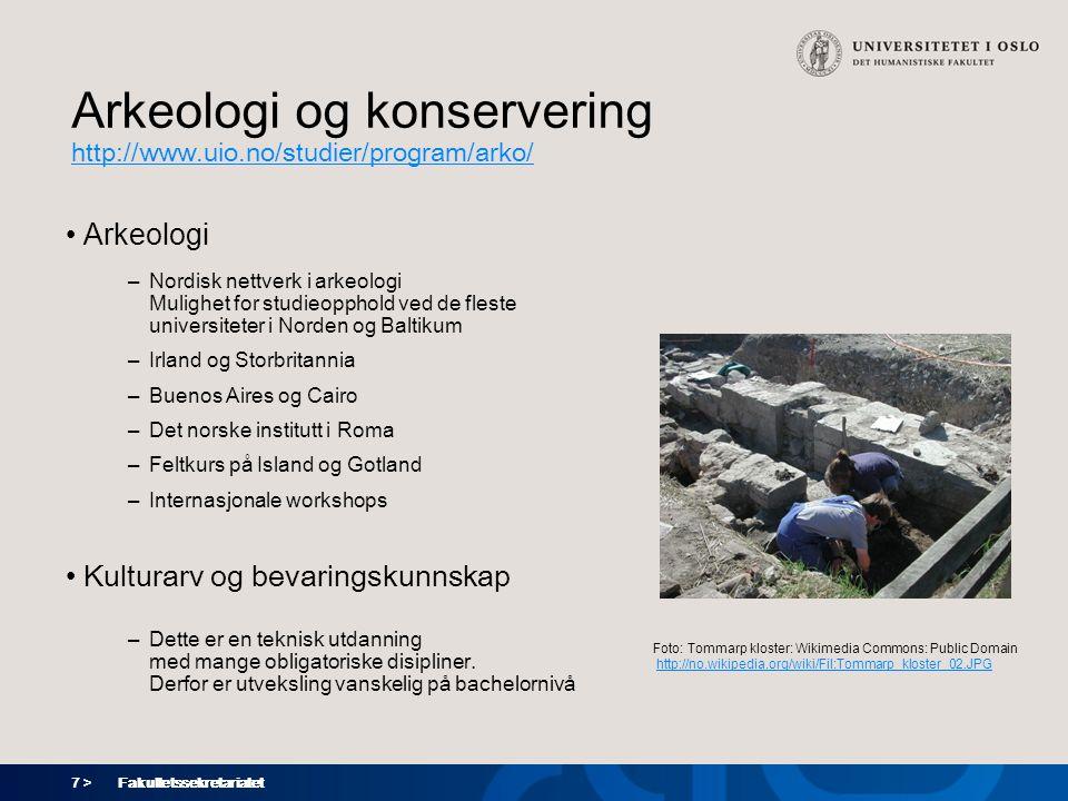 Arkeologi og konservering