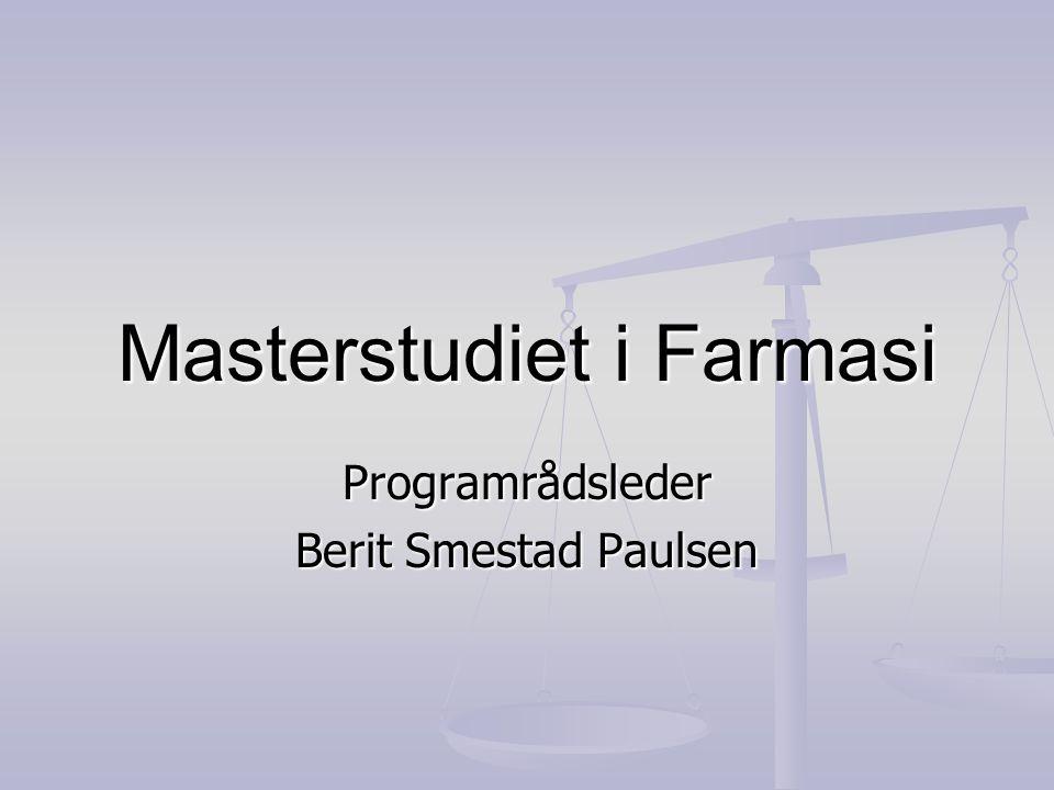 Masterstudiet i Farmasi
