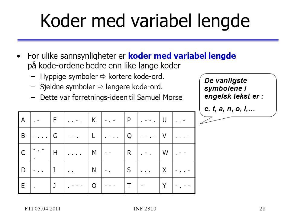 Koder med variabel lengde