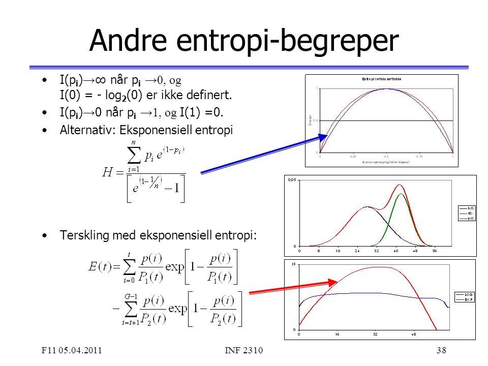 Andre entropi-begreper