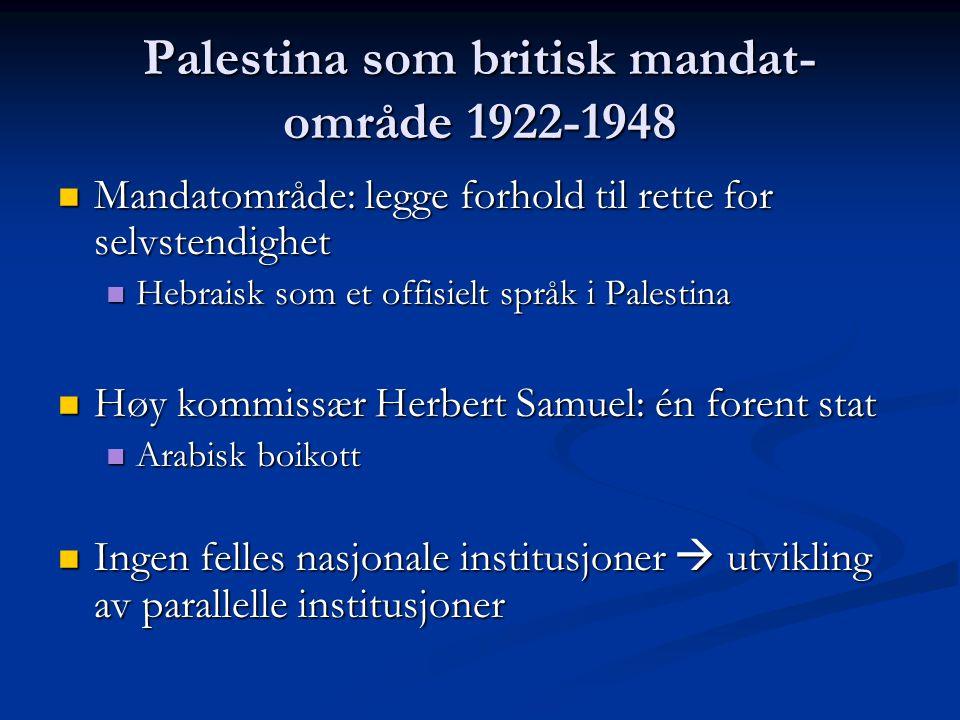 Palestina som britisk mandat-område 1922-1948