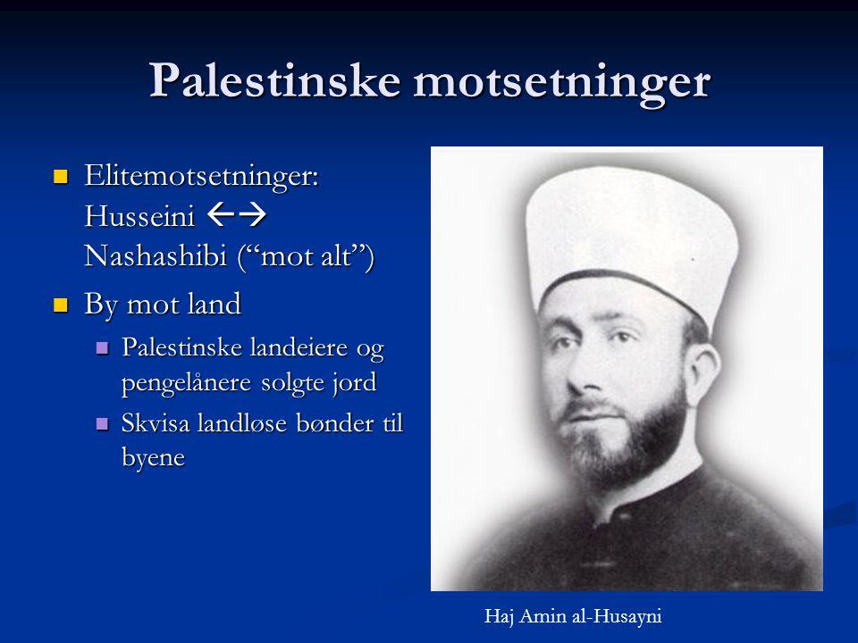 Palestinske motsetninger