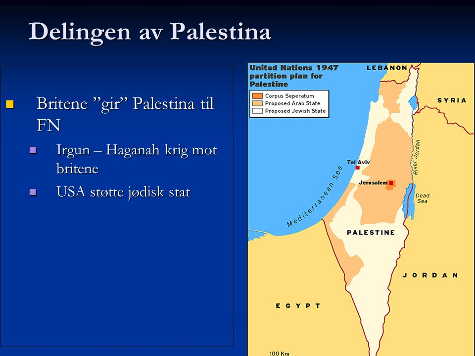 Britene gir Palestina til FN