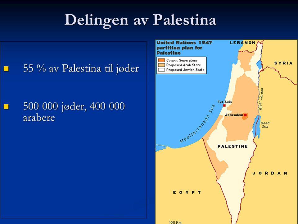 55 % av Palestina til jøder
