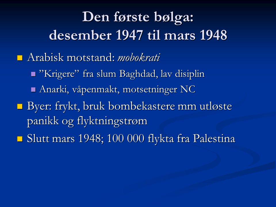 Den første bølga: desember 1947 til mars 1948