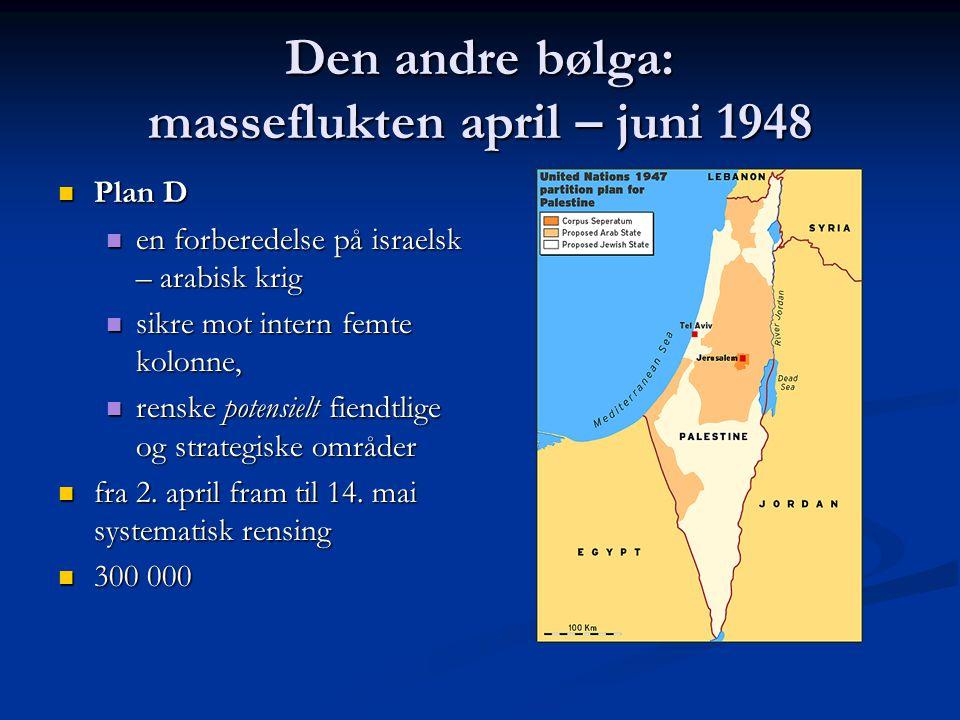 Den andre bølga: masseflukten april – juni 1948