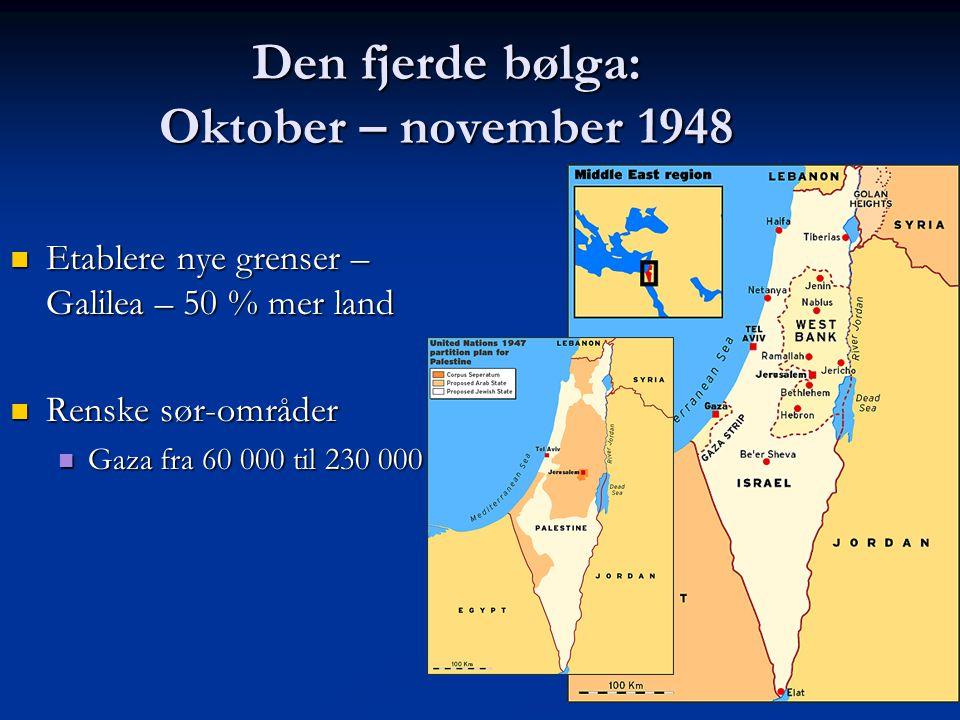 Den fjerde bølga: Oktober – november 1948