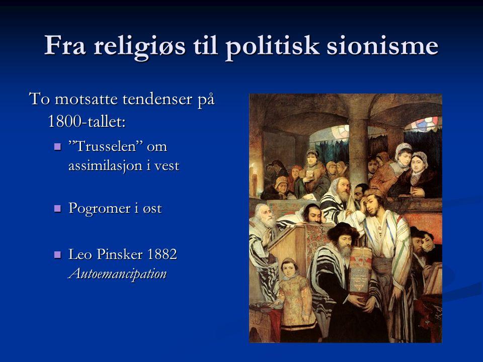 Fra religiøs til politisk sionisme