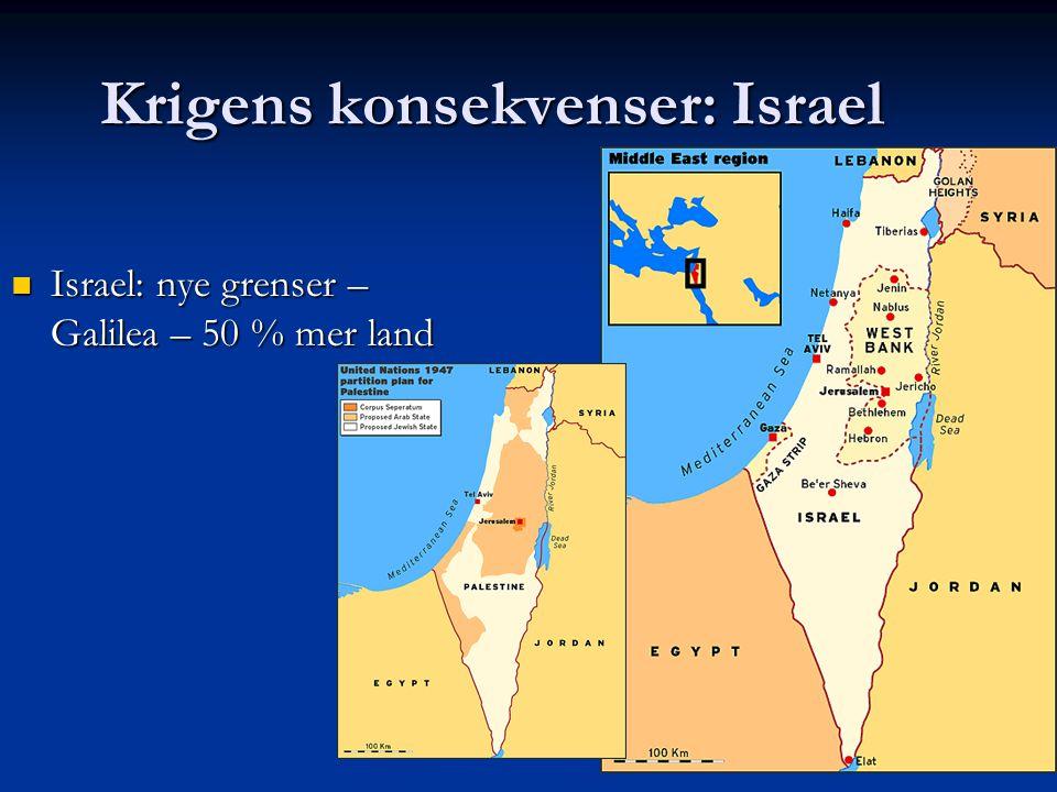 Krigens konsekvenser: Israel