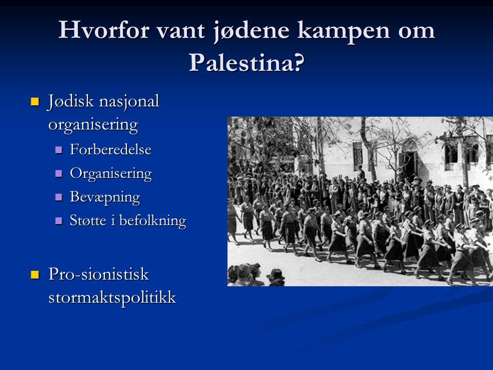 Hvorfor vant jødene kampen om Palestina