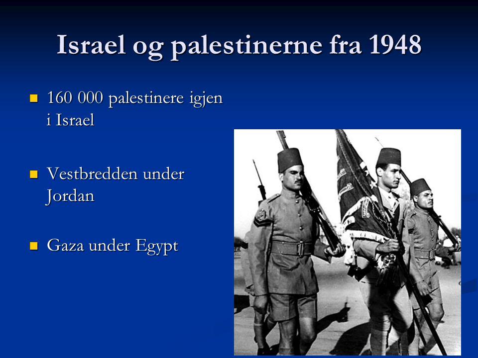 Israel og palestinerne fra 1948