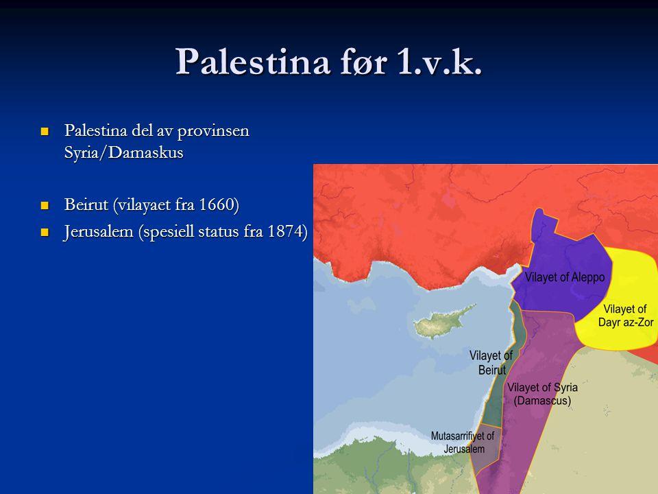 Palestina før 1.v.k. Palestina del av provinsen Syria/Damaskus