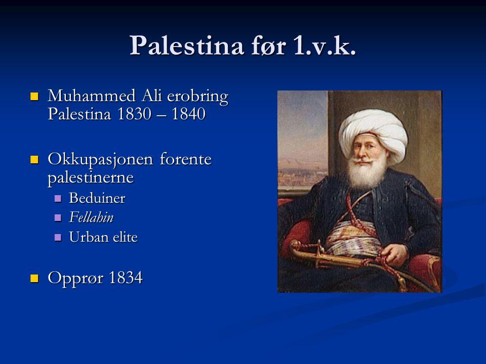 Palestina før 1.v.k. Muhammed Ali erobring Palestina 1830 – 1840
