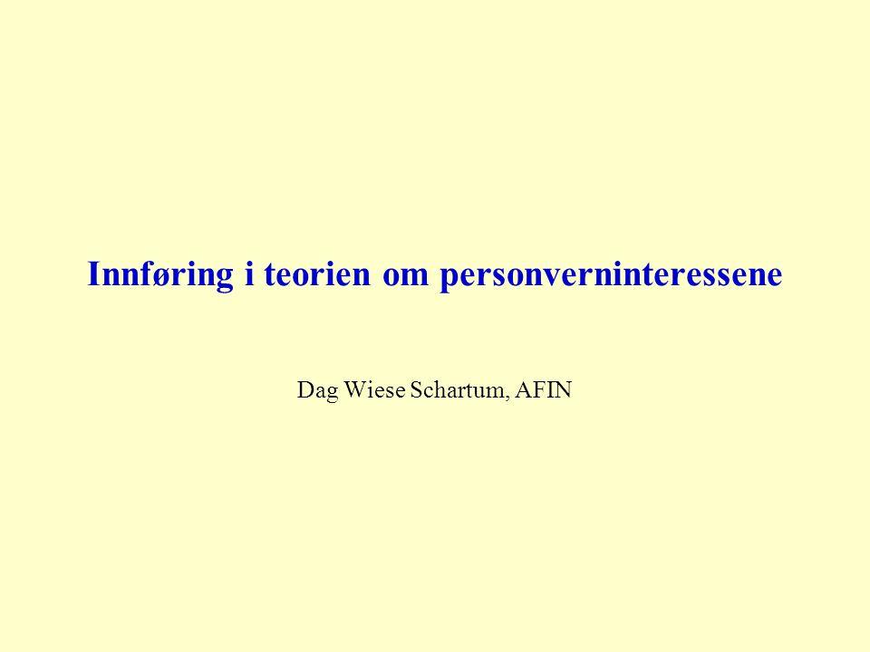 Innføring i teorien om personverninteressene