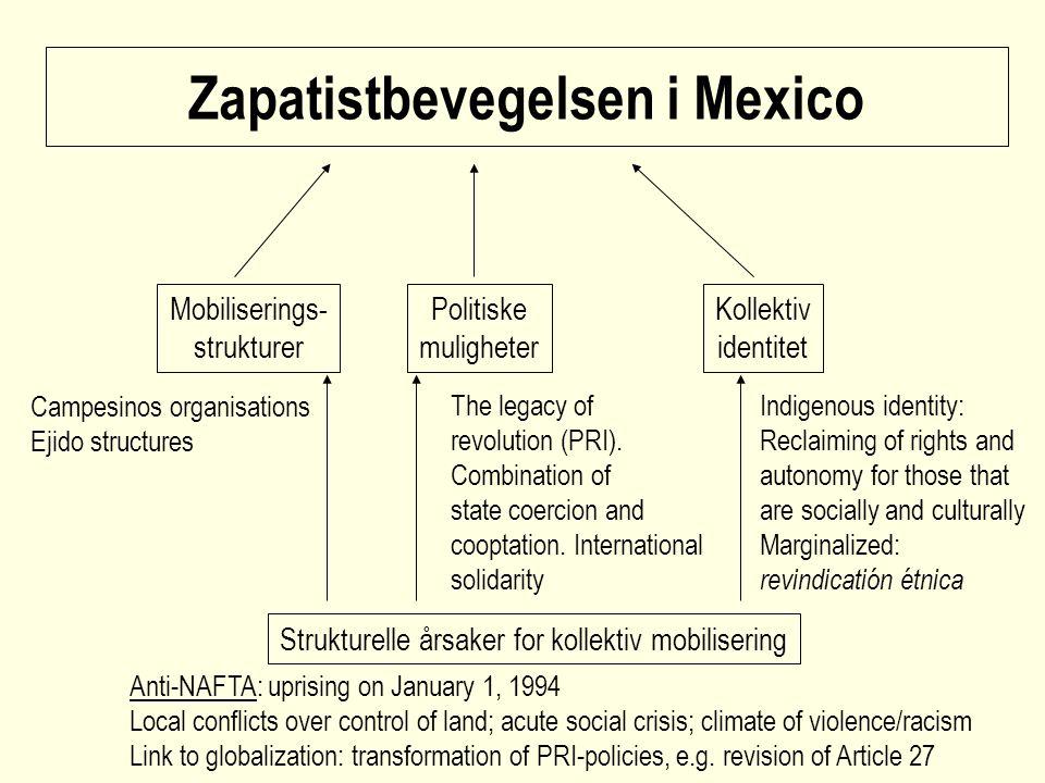 Zapatistbevegelsen i Mexico