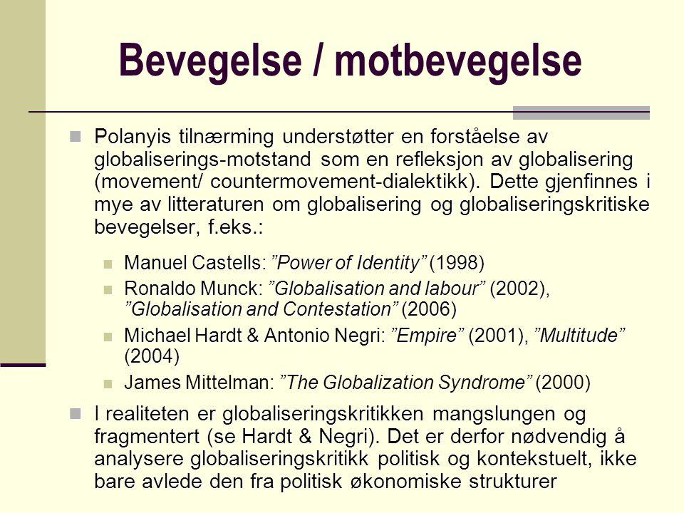 Bevegelse / motbevegelse