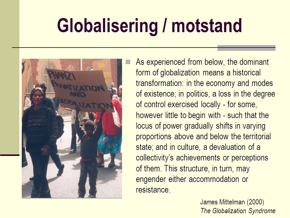 Globalisering / motstand