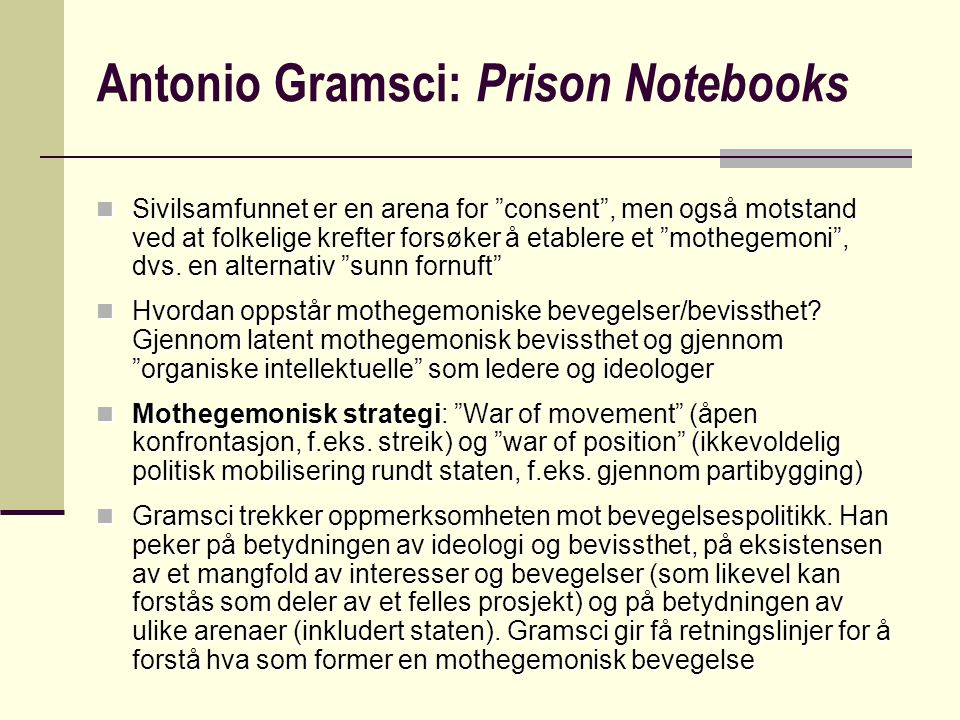 Antonio Gramsci: Prison Notebooks