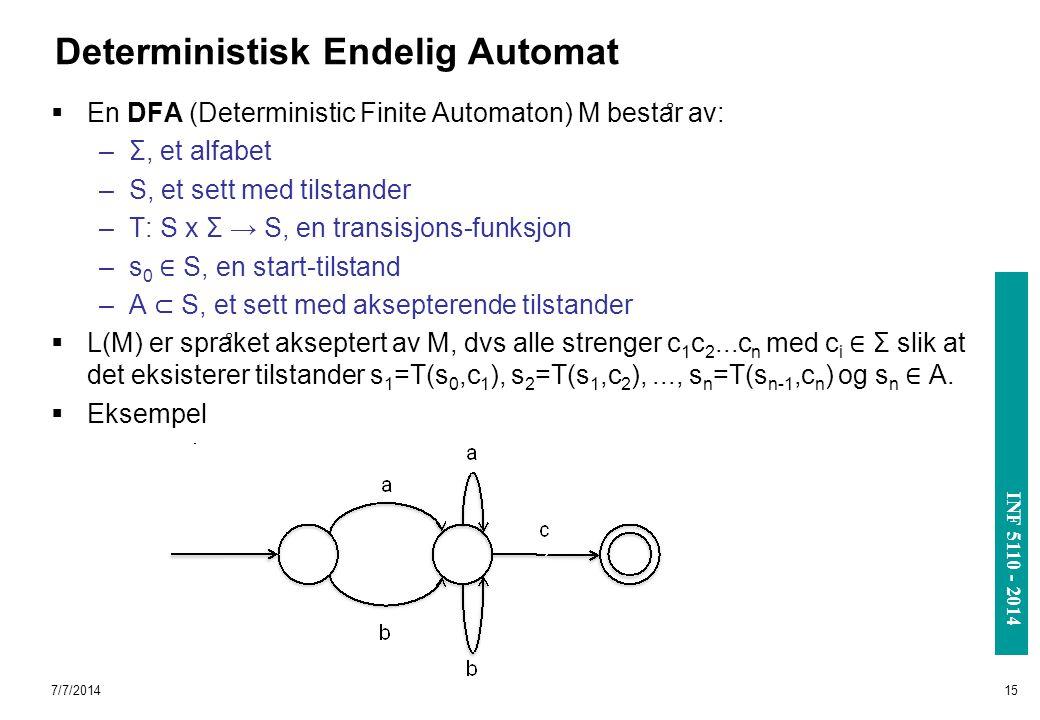 Deterministisk Endelig Automat