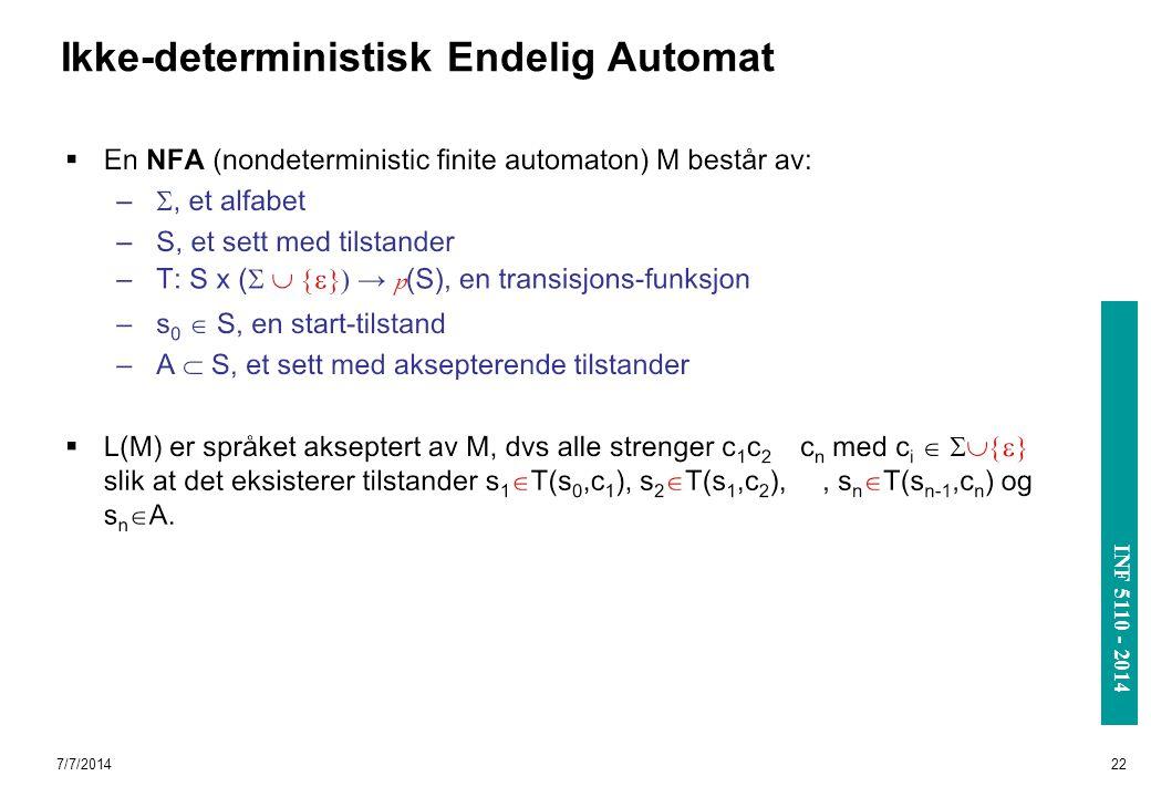 Ikke-deterministisk Endelig Automat