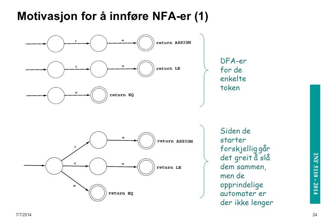 Motivasjon for å innføre NFA-er (1)
