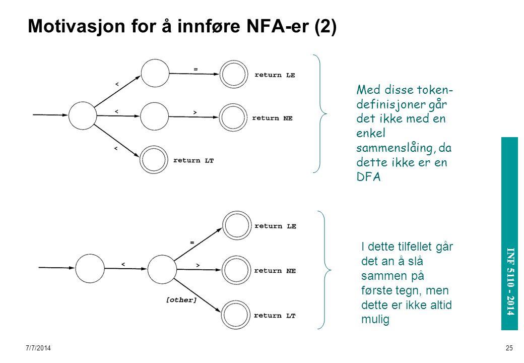 Motivasjon for å innføre NFA-er (2)