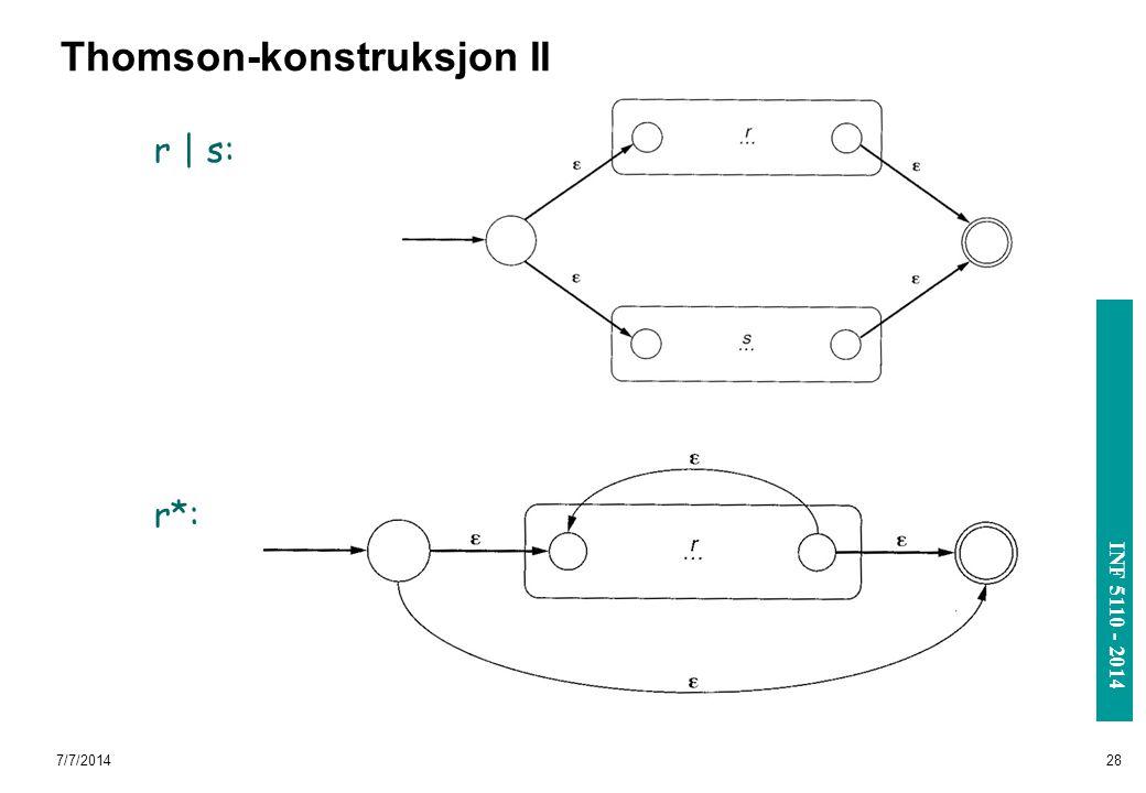 Thomson-konstruksjon II