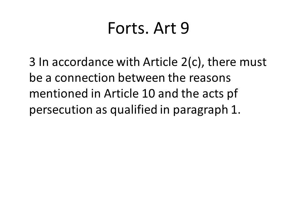 Forts. Art 9