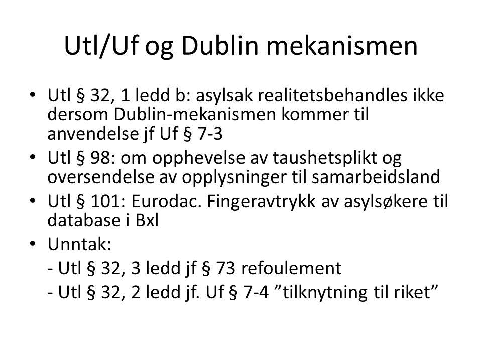 Utl/Uf og Dublin mekanismen