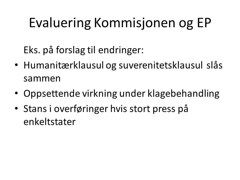 Evaluering Kommisjonen og EP