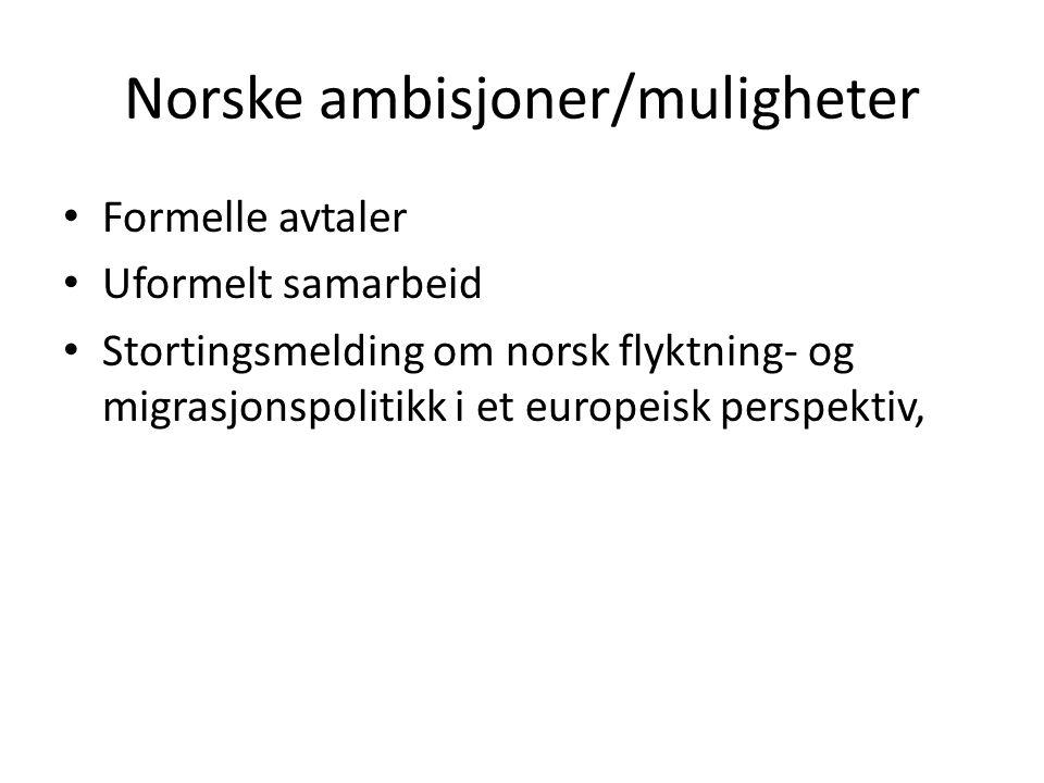 Norske ambisjoner/muligheter
