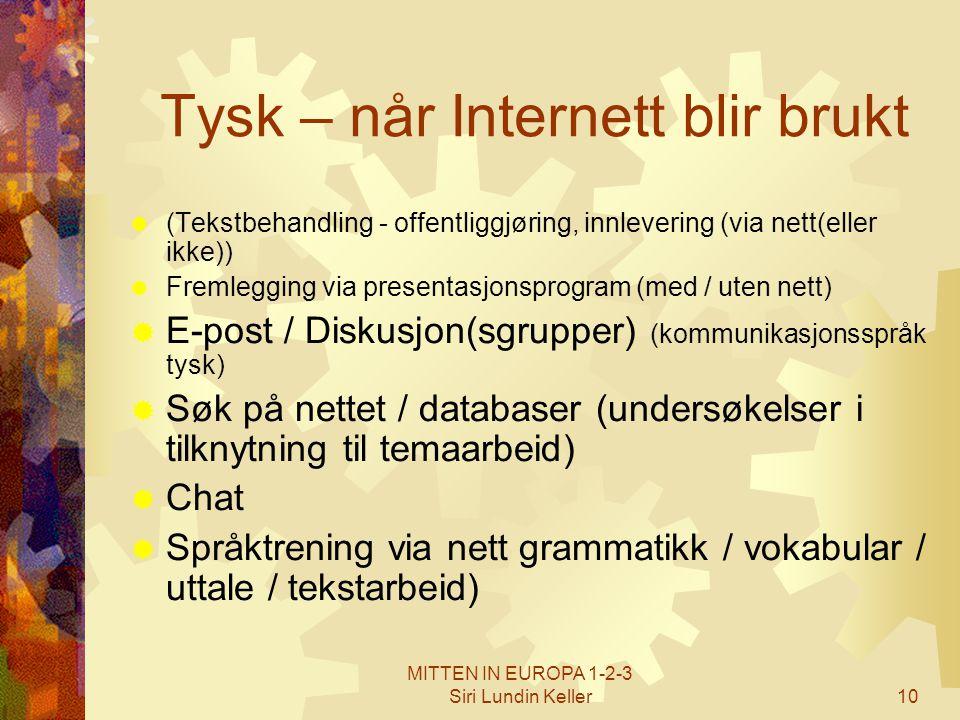Tysk – når Internett blir brukt